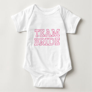Team Bride Pink Outline Infant Creeper