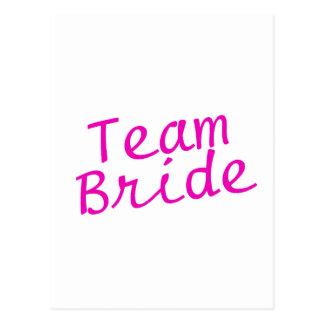 Team Bride Pink Postcard