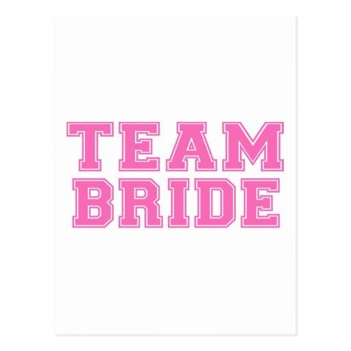 Team Bride (Pink) Postcard
