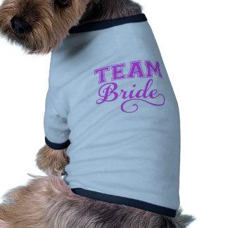 Team Bride, pink word art text design for t-shirt Dog T-shirt