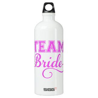 Team Bride, pink word art text design for t-shirt SIGG Traveler 1.0L Water Bottle