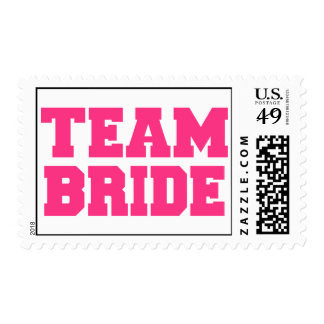Team Bride Postage Stamps