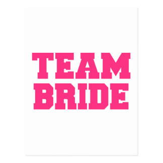 Team Bride Post Card
