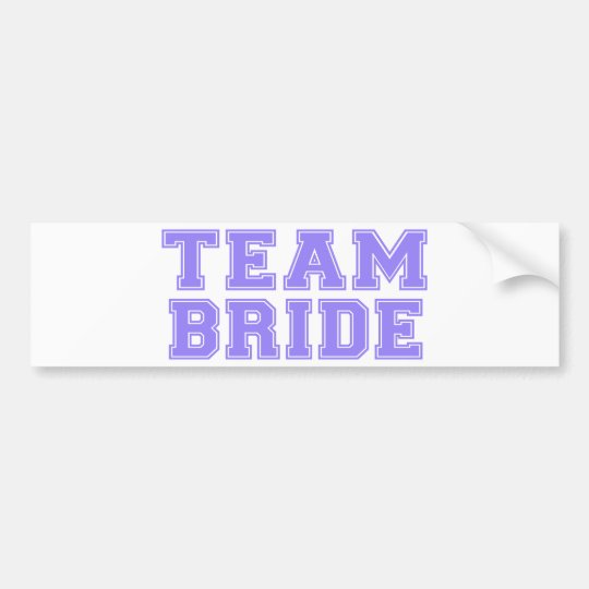 Team Bride (Purple) Bumper Sticker