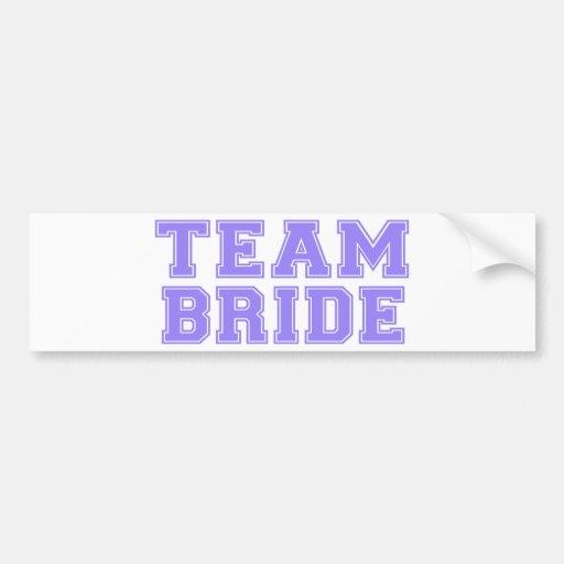 Team Bride (Purple) Bumper Stickers