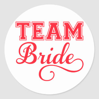 Team Bride red word art text design for t-shirt Stickers
