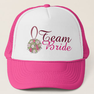 Team Bride Rose Bouquet Wedding Bridal Party Hat