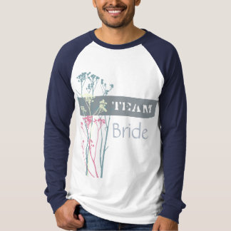 Team Bride RUSTIC BLUE, WHITE, PINK COUNTRY CHARM T-Shirt