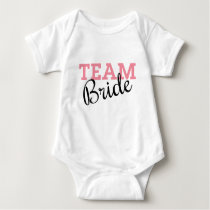 Team Bride Script Baby Bodysuit