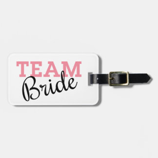 Team Bride Script Bag Tag