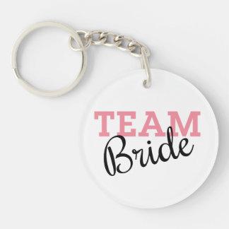 Team Bride Script Acrylic Key Chains