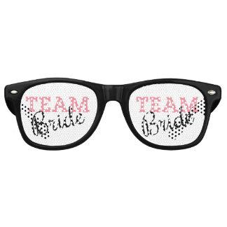 Team Bride Script Retro Sunglasses
