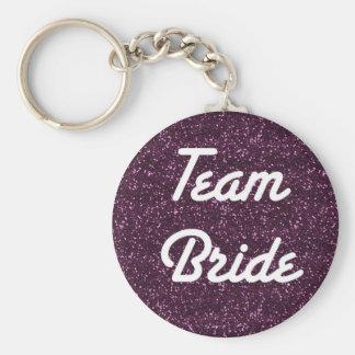 Team Bride Sparkle Keychain