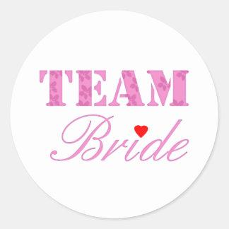 Team Bride Theme Classic Round Sticker