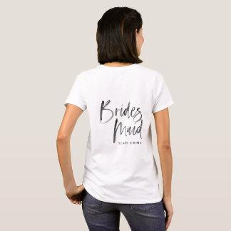 Team bride tribe Bridesmaid modern bachelorette T-Shirt