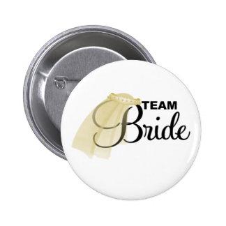 Team Bride (veil) 2 Inch Round Button