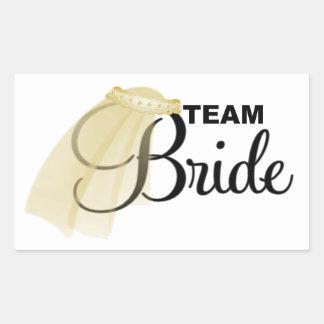 Team Bride (veil) Rectangular Sticker