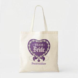 Team Bride   Wedding   Amethyst Purple   DIY Text Tote Bag