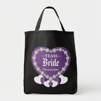 Team Bride | Wedding | Amethyst Purple | DIY Text Tote Bag