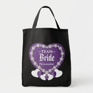Team Bride | Wedding | Amethyst Purple | DIY Text Tote Bag