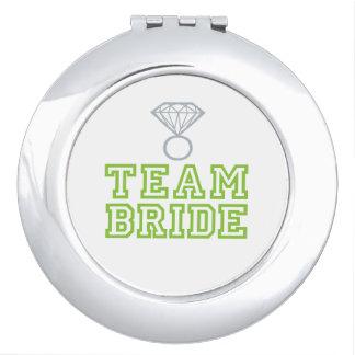 Team Bride Wedding Gift Compact Mirror