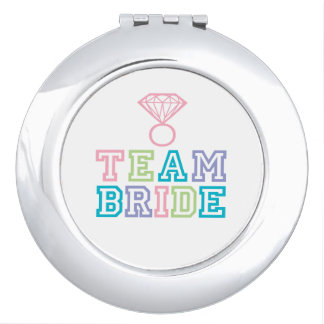 Team Bride Wedding Gift Makeup Mirror