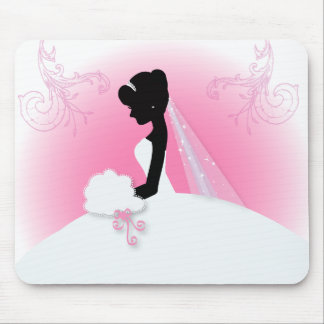 Team bride Wedding gown Bride bridal silhouette Mouse Pad