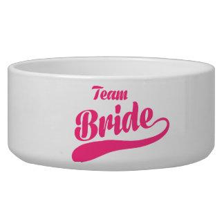 Team Bride Wedding Pet Food Bowl