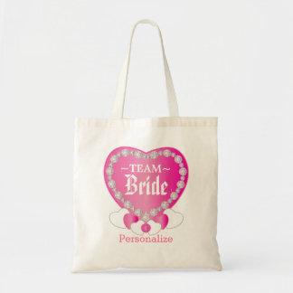 Team Bride   Wedding   Pretty Pink   DIY Text Tote Bag