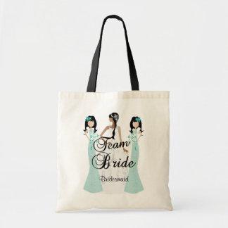 Team Bride | Wedding | Teal Green | DIY Text Tote Bag