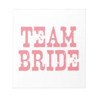 Team Bride Western Pink Notepad
