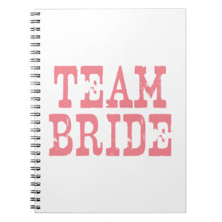 Team Bride Western Pink Spiral Notebook