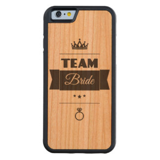 Team Bride Carved® Cherry iPhone 6 Bumper Case