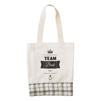 Team Bride Zazzle HEART Tote Bag