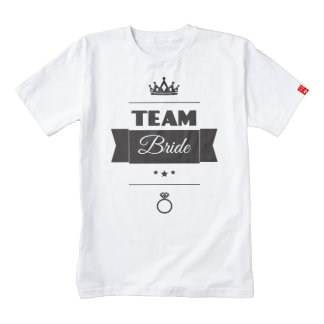 Team Bride Zazzle HEART T-Shirt