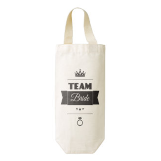 Team Bride Zazzle HEART Wine Bag