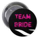 Team Bride Zebra Wedding 3 Inch Round Button