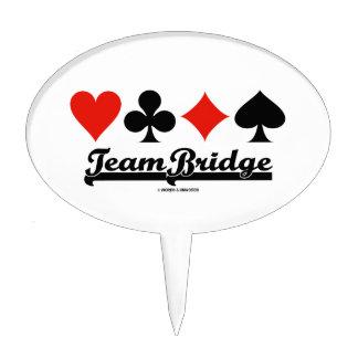 Team Bridge (Four Card Suits) Cake Topper