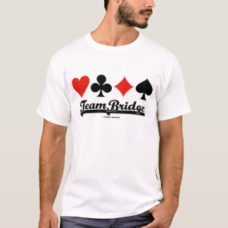 Team Bridge (Four Card Suits) T-Shirt