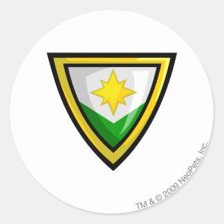 Team Brightvale Logo Classic Round Sticker