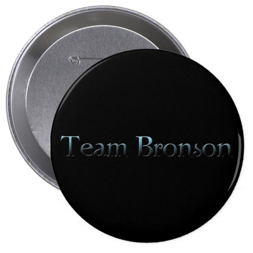 team bronson pinback button
