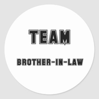 Team Brother-in-Law Classic Round Sticker