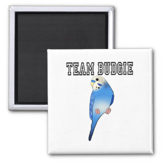 Team Budgie 2 Inch Square Magnet