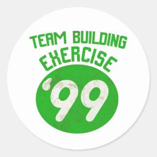 Team Building Exercise '99 Classic Round Sticker