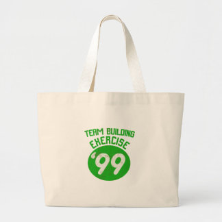 Team Building Exercise '99 Large Tote Bag