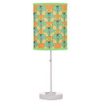 Team Bunny Face_Green and Orange Table Lamp