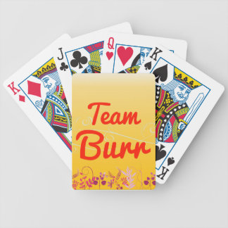 Team Burr Bicycle Playing Cards