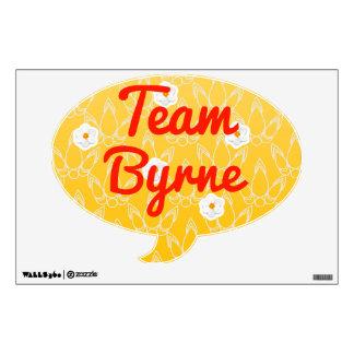 Team Byrne Room Graphics