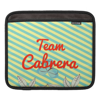 Team Cabrera Sleeve For iPads
