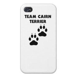 Case Savvy iPhone 4 Matte Finish Case with Cairn Terrier Phone Cases design